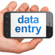 Data concept: Data Entry on smartphone — Stock Photo #34087991