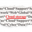Cloud networking concept: Cloud Storage on Paper background — Stock Photo #34088045