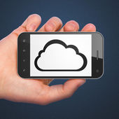 Cloud technology concept: Cloud on smartphone — Stock Photo