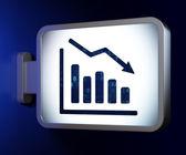Business concept: Decline Graph on billboard background — Stockfoto