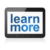 Education concept: Learn More on tablet pc computer — Stock Photo