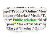 Advertising concept: Public Relations on Paper background — Stock Photo