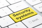 Safety concept: Security Systems on computer keyboard background — Foto de Stock