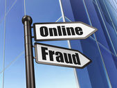 Safety concept: Online Fraud on Building background — Stock Photo