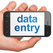 Data concept: Data Entry on smartphone — Stock Photo
