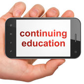 Education concept: Continuing Education on smartphone — Stock Photo