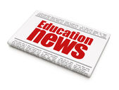 News news concept: newspaper headline Education News — Стоковое фото