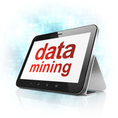 Data concept: Data Mining on tablet pc computer — Stock Photo