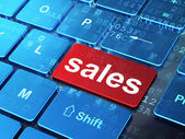 Marketing concept: Sales on computer keyboard background — Stock Photo