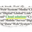 Stockfoto: Cloud computing concept: Cloud Solutions on Paper background