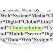 Foto de Stock  : Cloud computing concept: Cloud Solutions on Paper background