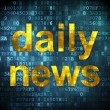 Foto de Stock  : News concept: Daily News on digital background