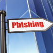 Privacy concept: Phishing on Building background — Stock fotografie