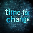 Stockfoto: Timeline concept: Time for Change on digital background