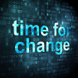 Timeline concept: Time for Change on digital background — Stockfoto