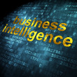 Finance concept: Business Intelligence on digital background — Foto de Stock