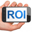 Business concept: ROI on smartphone — Stock Photo