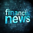 News concept: Financial News on digital background — Stock Photo