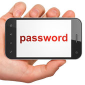 Security concept: Password on smartphone — ストック写真