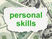 Education concept: Personal Skills on Money background — Stockfoto