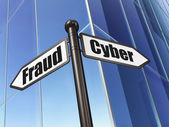 Privacy concept: Cyber Fraud on Building background — Stock Photo