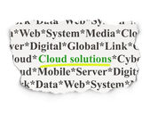 Cloud computing concept: Cloud Solutions on Paper background — Foto Stock