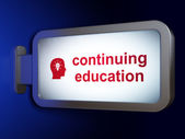 Education concept: Continuing Education and Head With Light Bulb — Stock Photo