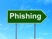 Privacy concept: Phishing on road sign background — Stock Photo
