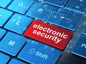 Privacy concept: Electronic Security on computer keyboard background — Stock Photo