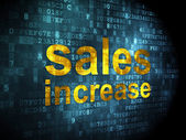 Advertising concept: Sales Increase on digital background — Foto de Stock