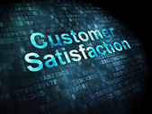 Marketing concept: Customer Satisfaction on digital background — Stock Photo