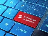 Education concept: Head With Gears and Knowledge Is power! — Stock Photo