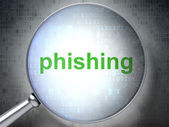 Safety concept: Phishing with optical glass — Stock Photo