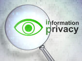 Privacy concept: Eye and Information Privacy with optical glass — Stock Photo