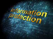 Privacy concept: Information Protection on digital background — Foto de Stock