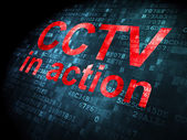 Safety concept: CCTV In action on digital background — Stock Photo