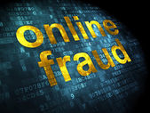 Privacy concept: Online Fraud on digital background — Stock Photo