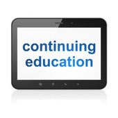 Education concept: Continuing Education on tablet pc computer — Stock Photo