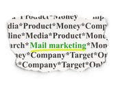 Marketing concept: Mail Marketing on Paper background — 图库照片