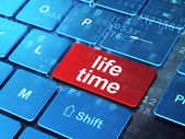 Timeline concept: Life Time on computer keyboard background — Stock Photo