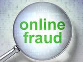Säkerhetsbegreppet: online-bedrägerier med optiska glas — Stockfoto