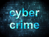 Safety concept: Cyber Crime on digital background — Foto de Stock