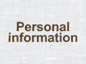 Protection concept: Personal Information on fabric texture — Foto de Stock