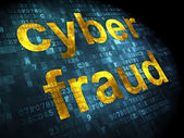 Security concept: Cyber Fraud on digital background — Stockfoto