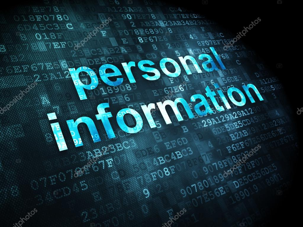 Safety Concept Personal Information On Digital Background — Stock
