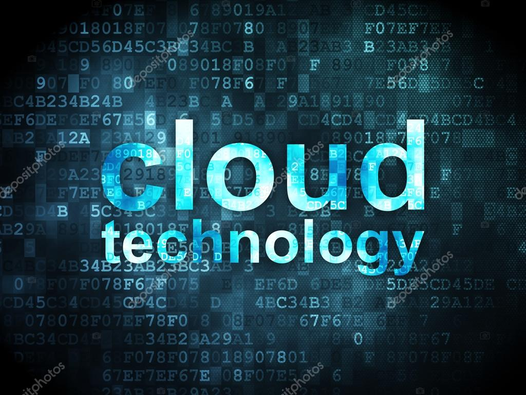 Cloud networking concept cloud technology on digital background