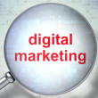 Marketing concept: Digital Marketing with optical glass — Foto de Stock