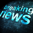 News concept: Breaking News on digital background — Stock Photo #34107525