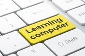 Education concept: Learning Computer on computer keyboard backgr — Stock Photo