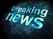 News concept: Breaking News on digital background — Stock Photo